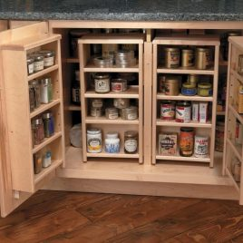 BASE PANTRY CABINET DESIGNED FOR EASY STORAGE