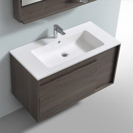 "COCOA 39 1/2"" WALL MOUNT SINGLE VANITY SET"
