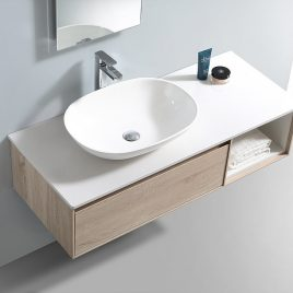 "CLEARWATER 47 1/2"" WALL MOUNT SINGLE VANITY SET"