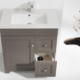 "EVERGLADES 30"" FREE STANDING SINGLE VANITY SET"
