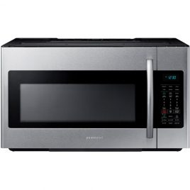 Samsung 30 in W 1.8 cu. ft. Over the Range Microwave in Fingerprint Resistant Stainless Steel with Sensor Cooking