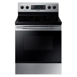 Samsung 5.9 cu. ft. Freestanding Electric Range with Self Cleaning and 5 Burners in Stainless Steel