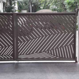 LC Gate with Palm Leaves Design