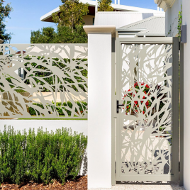LC Entry Gate with Tropical Flowers