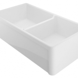 33″ REVERSIBLE DOUBLE BOWL FIRECLAY FARMHOUSE SINK
