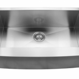 "32 7/8"" x 20 3/4"" x 10"" UNDERMOUNT, SINGLE BOWL, STAINLESS STEEL, FARMHOUSE APRON KITCHEN SINK"