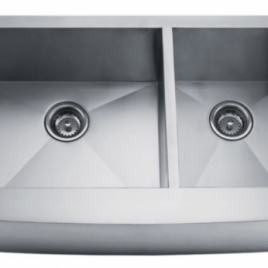 35 7/8″ X 20 3/4″ X 10″ UNDERMOUNT, DOUBLE BOWL, STAINLESS STEEL, FARMHOUSE APRON KITCHEN SINK