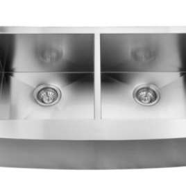 35 7/8″ X 20 3/4″ X 10″ UNDERMOUNT, DOUBLE BOWL, STAINLESS STEEL, FARMHOUSE APRON, KITCHEN SINK