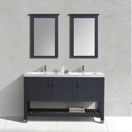 LARGO 59″ FREE STANDING DOUBLE VANITY SET